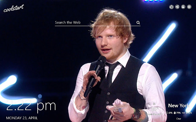 Ed Sheeran HD Wallpapers New Tab Theme