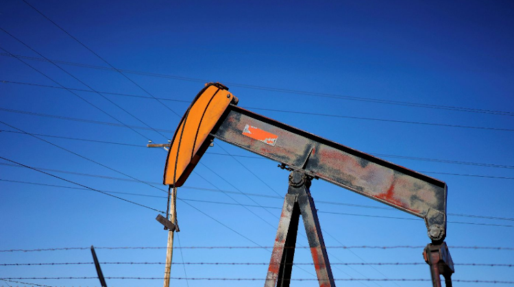 An oil well pump jack is seen at an oil field supply yard near Denver, Colorado, the US. Picture: REUTERS/RICK WILKING