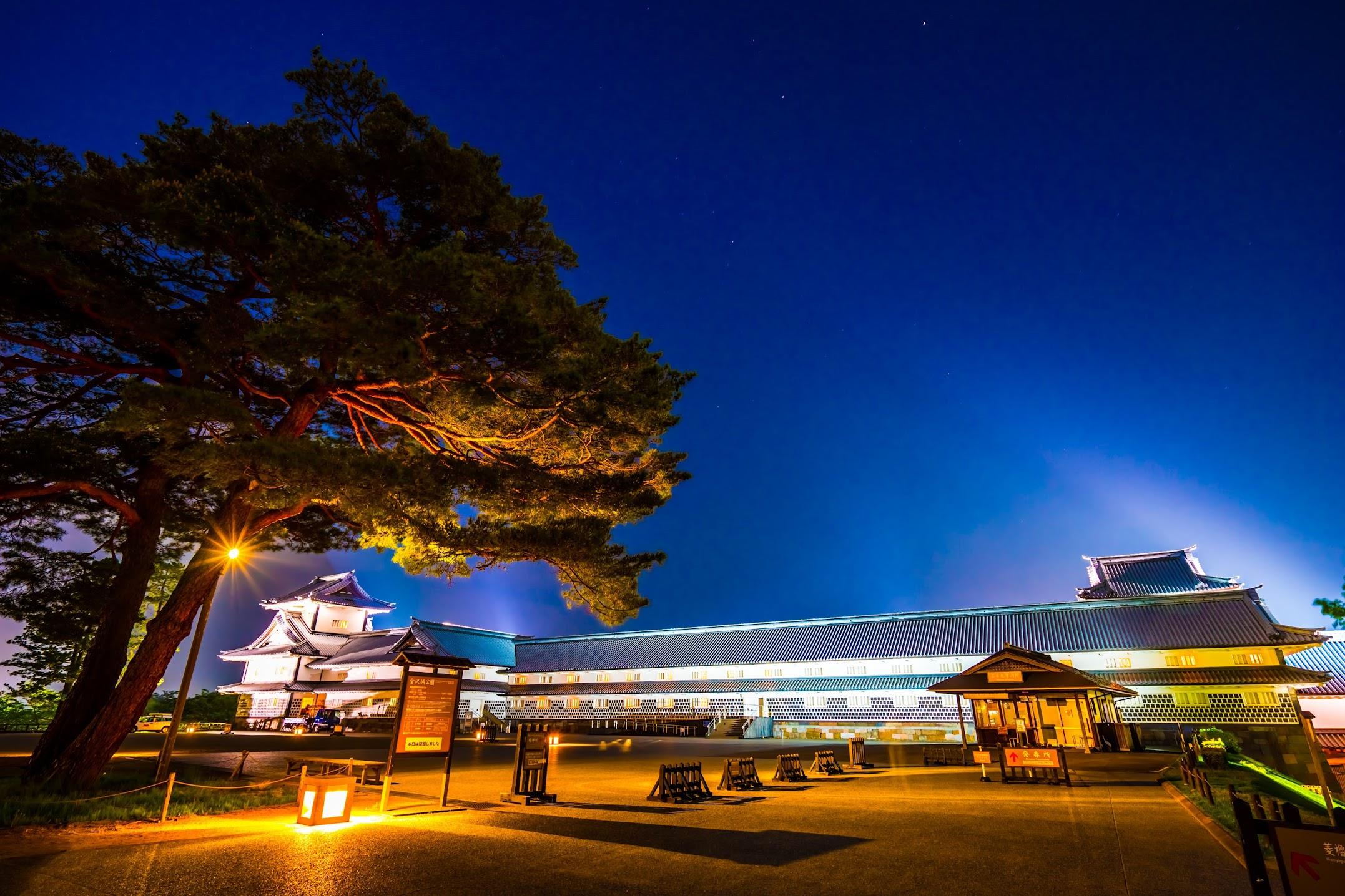 金沢城公園 ライトアップ1