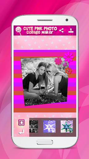 可爱的粉红色照片拼贴创造者