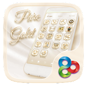 Pure Gold Go Launcher Theme
