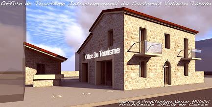 Photo: Office de Tourisme Intercommunal du Sartenais Valinco Taravo par le Cabinet d'Architecture Kayser Milleliri, Architecte DPLG en Corse