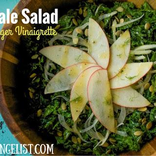 Autumn Kale Salad with Maple-Ginger Vinaigrette