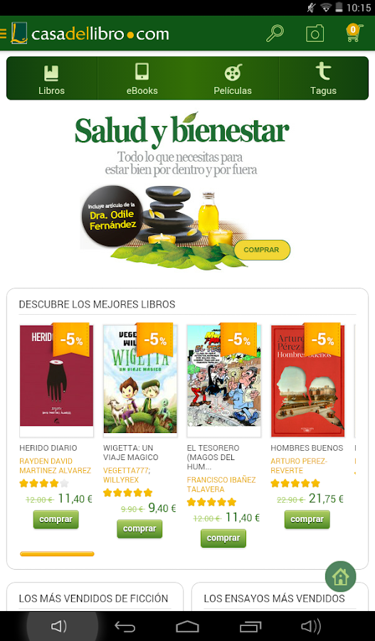 Casa del libro libros ebooks android apps on google play - Ebook casa del libro ...