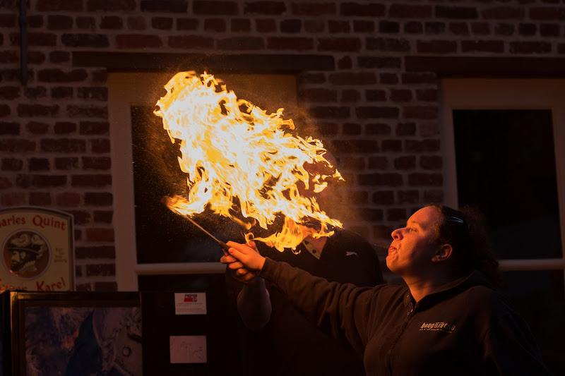 Een workshop Vuurspuwen, het kan! (Foto's: Timothy Leysen)