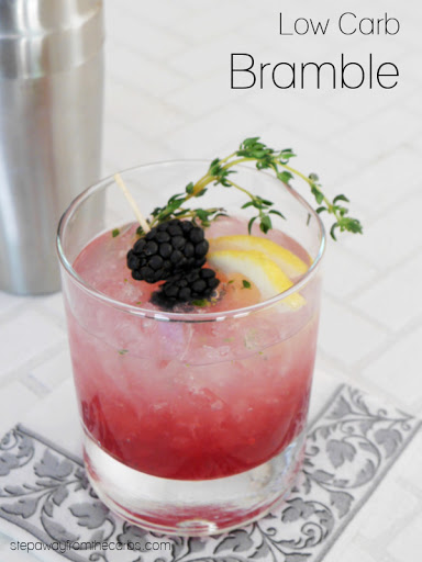 Low Carb Bramble Cocktail