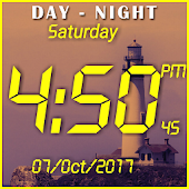Day night changing clock live wallpaper