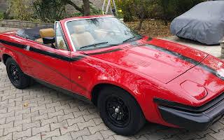 Triumph Tr7 Spider Rossa Rent Lazio