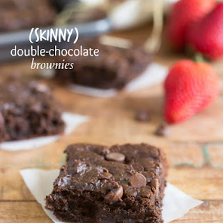 {Skinny} Double-Fudge Brownies (No beans!)