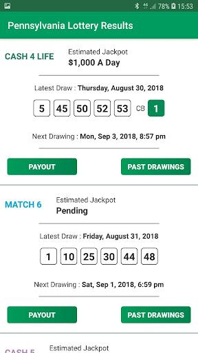 Pennsylvania Lottery Results 1.0 screenshots 2