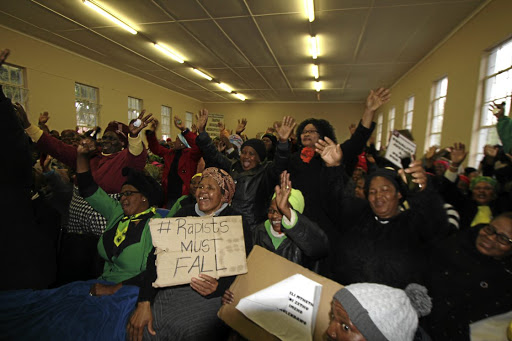 JUSTICE DONE Residents of Emalahleni municipality are among groups celebrating the release of a woman who stabbed her daughter's alleged rapists