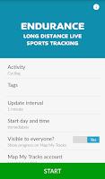 Screenshot of Map My Tracks Endurance