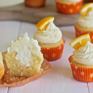 Mini Orange Creamsicle Cupcakes