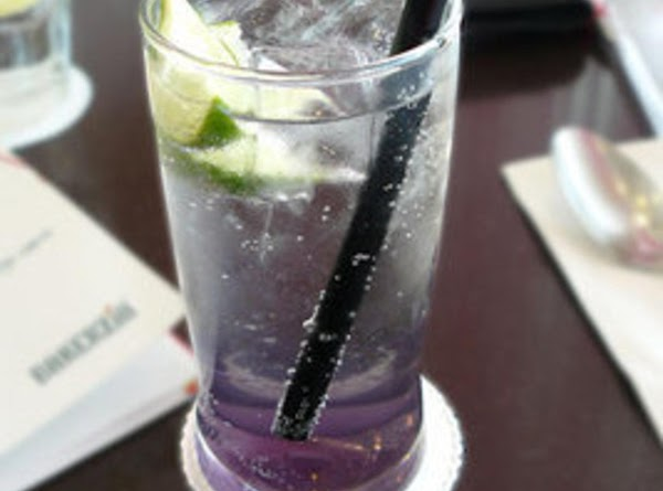 Mix 1 part lavender syrup to 3 parts soda water over ice in highball...