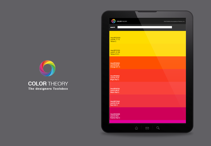 Color Theory design color theory & pantone - android apps on google play