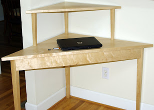 Photo: Corner Desk with notebook computer for scale.