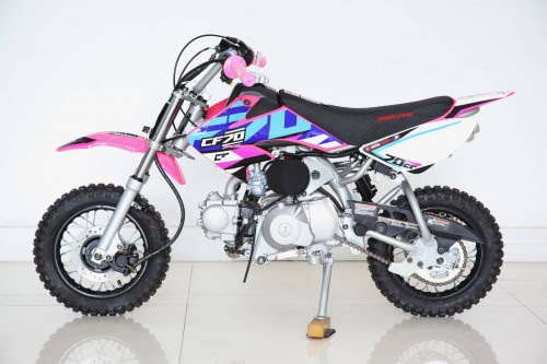 70cc Moto21 CF 70 Semi Auto Dirt Bike Pink