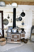Photo: The Cooking Stove in the Braun Log House