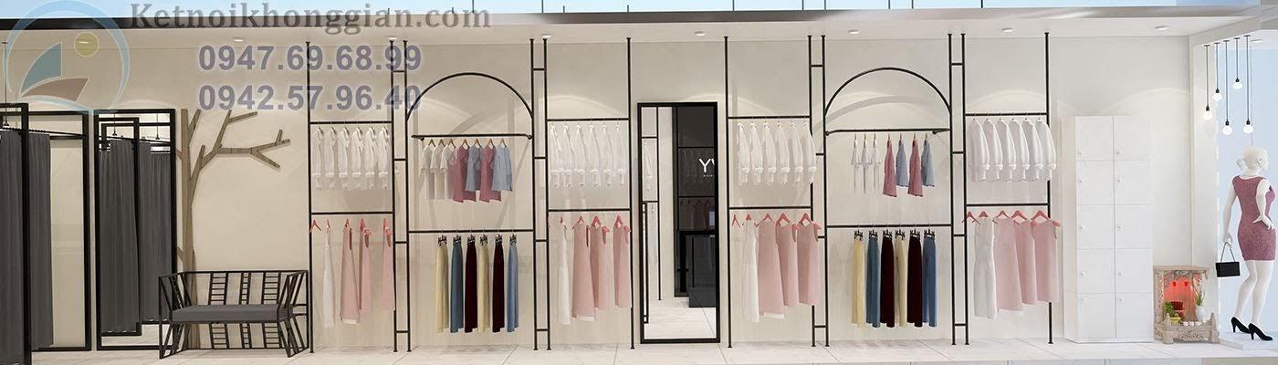 thiết kế shop thời trang hiện đại 2