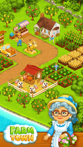 Farm Town: Happy farming Day & with farm game City  gameplay | by HackJr.Pw 1