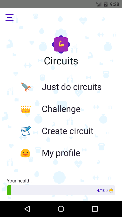 Circuits hiit training- screenshot