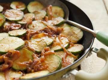Zucchini and Red Onion Saute