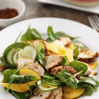 Exotic Fruit with Leaves and Chicken.