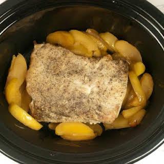 Slow Cooker Apple Glazed Pork Roast.