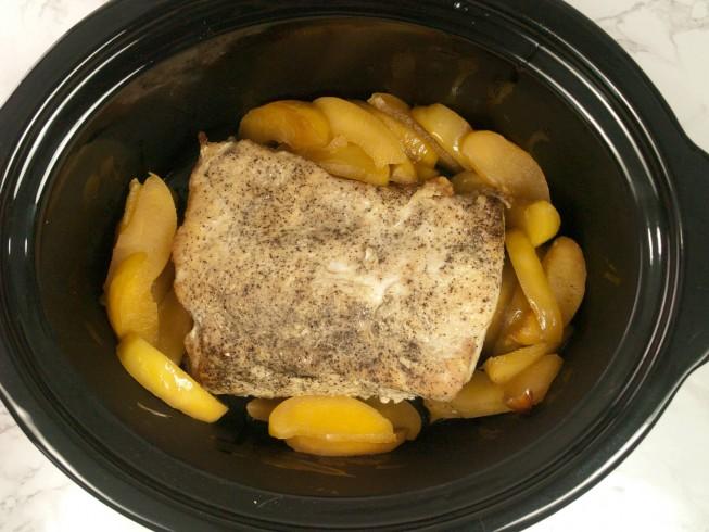 Slow Cooker Apple Glazed Pork Roast Recipe