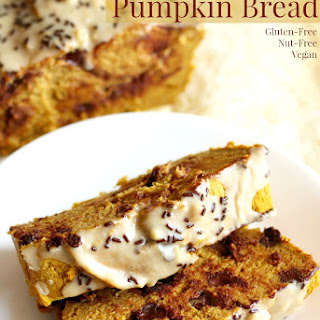 Tahini Chocolate Chip Pumpkin Bread.