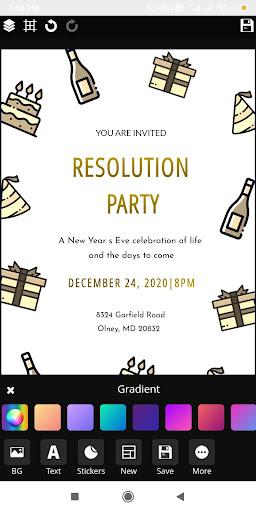 Invitation maker 2020 Birthday & Wedding card Free screenshot 5