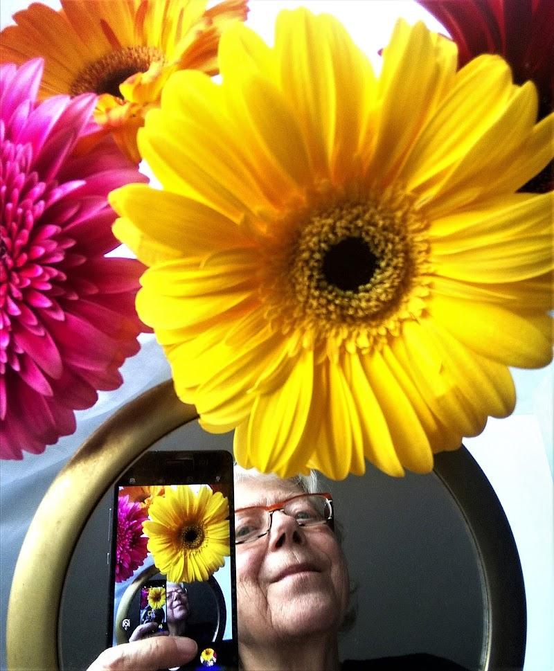 Fotografa tra i fiori di Inge