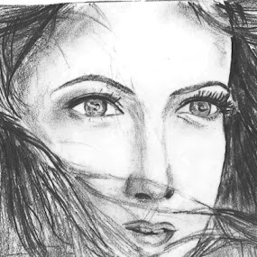 When The Eyes Perceive by Soumya Mukherjee - Drawing All Drawing ( pencil, sketch, face, women, portrait )