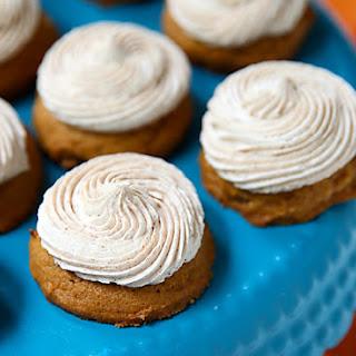 Mini Pumpkin Cookies with Cinnamon Frosting