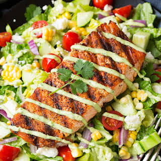 Mexican Grilled Salmon Salad.
