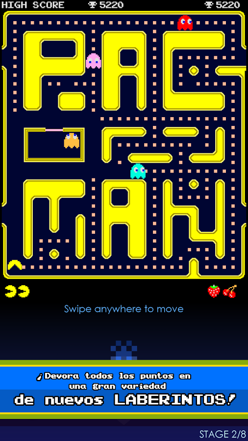 PAC-MAN: captura de pantalla