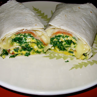 SPINACH BURRITOS-How to make a burrito.