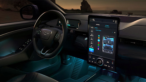 The Ford Sync version 4 features a 15.5-inch full-HD touch display.