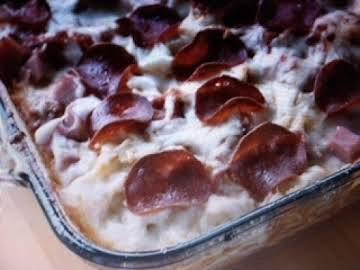 Three Meat Pizza Cassarole