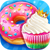 Rainbow Princess Bakery - Make Cupcake & Donut