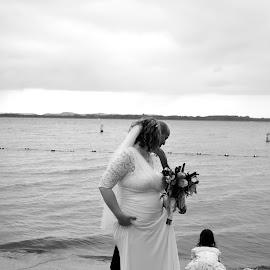 Summer Wedding by Kasha Newsom - Wedding Bride & Groom ( beachwedding, brideandgroom, wedding photography, wisconsinwedding, wedding, summer )