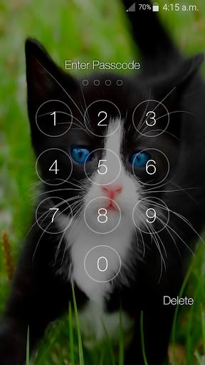 Kitty Cat Pin Lock Screen 6.2 screenshots 4