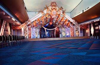 Photo: Aboriginal art adorns the stage