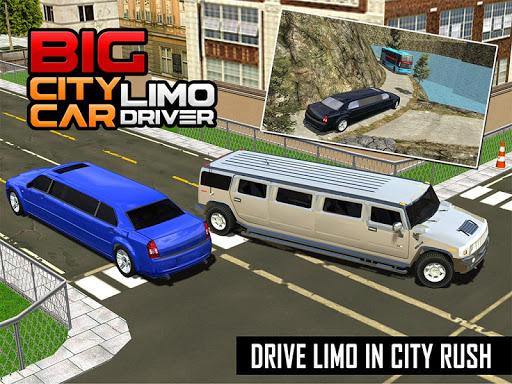 Big City Limo Car Driving Simulator : Taxi Driving 3.8 screenshots 16