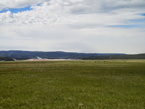 Photo: Really in the distance... also, a geyser nearby