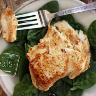 Paleo Ginger Chicken Breasts with Green Spinach.