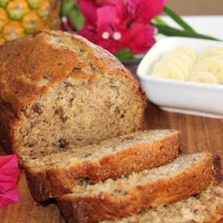 Hawaiian Pineapple Banana Nut Bread.