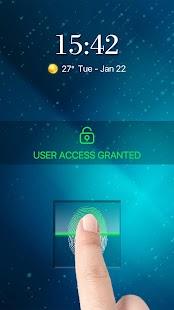 screen locker finger scanner prank - náhled