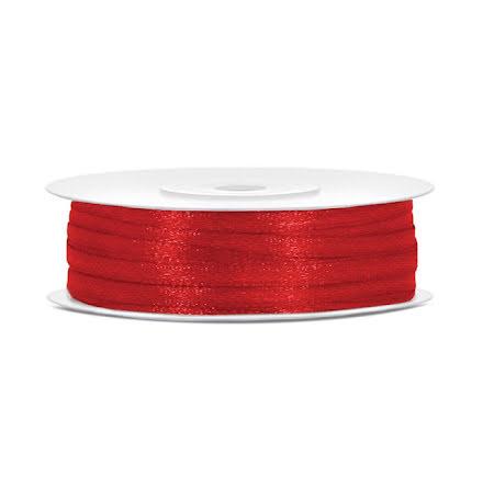 Satinband - Röd 3 mm