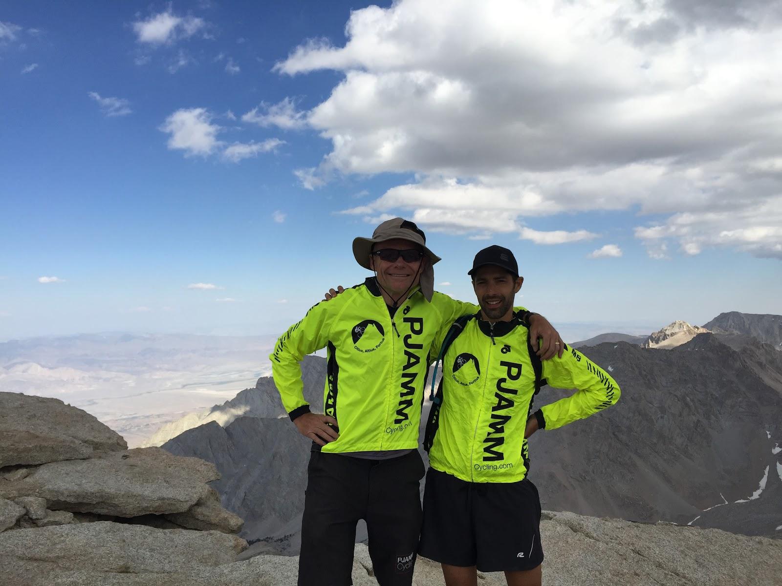 John Johnson and Tayler Hocket on summit of Mt. Whitney